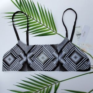 NWT PilyQ Geometric Bralette Bikini Top